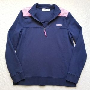 Vineyard Vines Shep pullover sweatshirt zip Navy